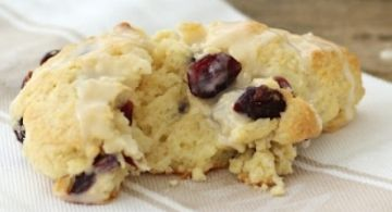 Cranberry Scones with an orange glaze