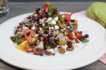 Farro and Barley Salad with Pickled Radishes and Feta Cheese